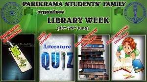 LIBRARY WEEK at Parikrama