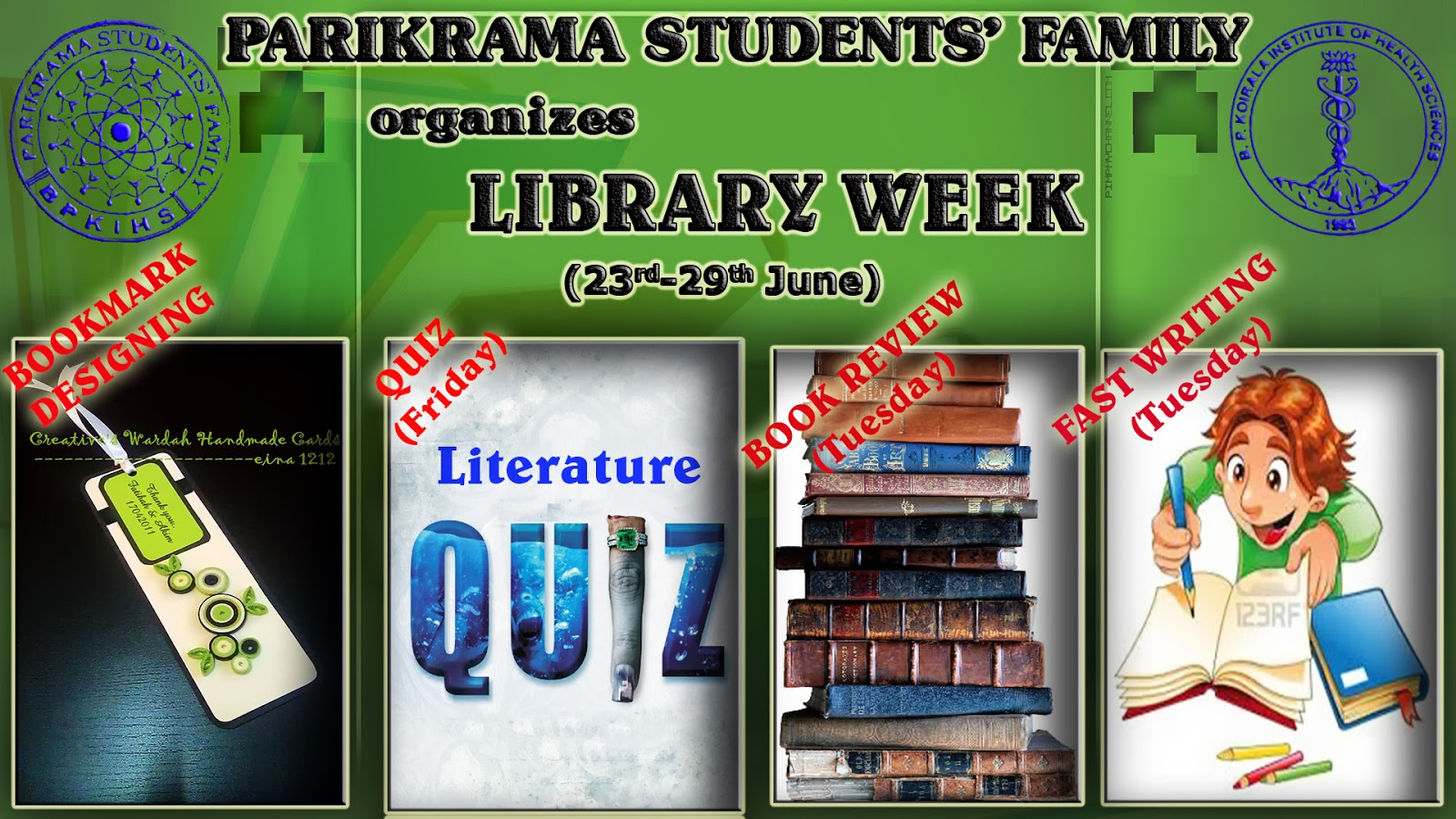 LIBRARY WEEK at Parikrama